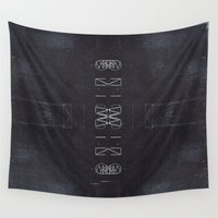 chaos Wall Tapestries featuring Chaos by Jane Lacey Smith