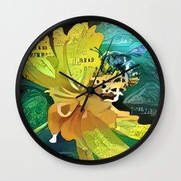 Bee in Bloom 1 Wall Clock