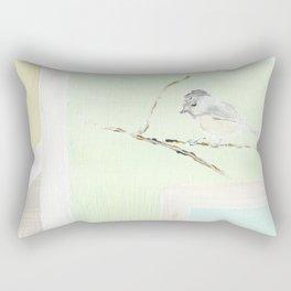 Chickadee Winter Rectangular Pillow