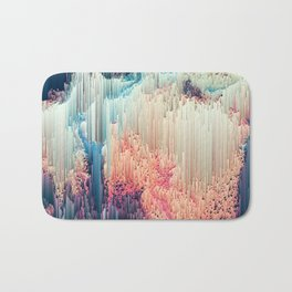Fairyland - Abstract Glitchy Pixel Art Bath Mat