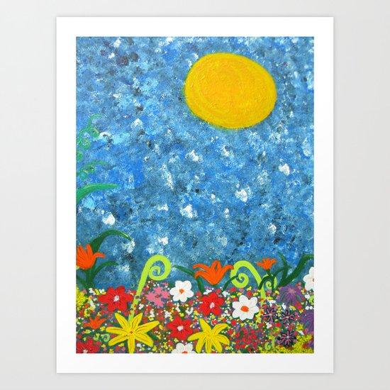 Sun Garden 1 Art Print