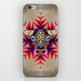 Fancy color bull divinity iPhone Skin