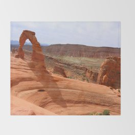 Delicate Arch A Famous Landmark Throw Blanket