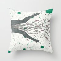 legs Throw Pillows featuring Legs by Labartwurx