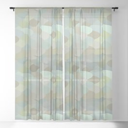 Dragon leaf scales Sheer Curtain