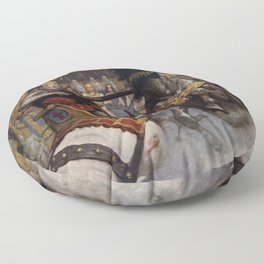 Knights jousting Floor Pillow