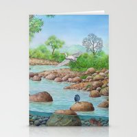 river Stationery Cards featuring  river  by Amy Fan