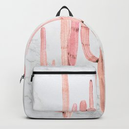 Cactus Trio Marble Pink by Nature Magick Backpack