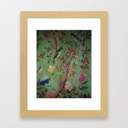 Green Dream Chinoiserie Framed Art Print