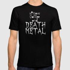 KITTENS COFFEE DEATH METAL MEDIUM Black Mens Fitted Tee