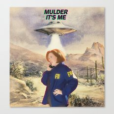 Scully Being Abducted Canvas Print