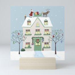 Christmas House Mini Art Print