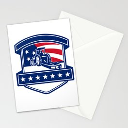 Brush Hogging Services USA Flag Badge Stationery Cards