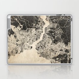 istanbul map ink lines Laptop & iPad Skin
