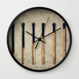 burnt matches stairsteps Wall Clock
