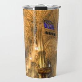 St Patrick's Cathedral Manhattan New York Travel Mug