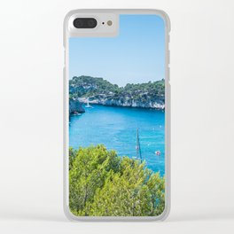 Calanques near Cassis in a summer day Clear iPhone Case