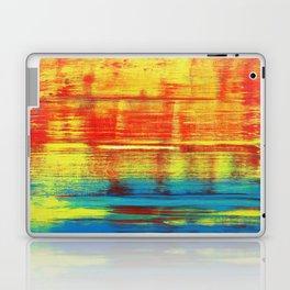 Sunny Sunset, Colorful Abstract Art Laptop & iPad Skin