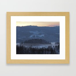 Swirling mist Framed Art Print