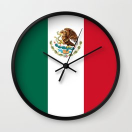 Flag of Mexico - Authentic Scale and Color (HD image) Wall Clock