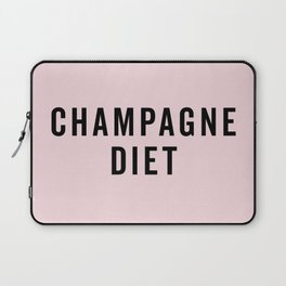 Champagne Diet Funny Quote Laptop Sleeve