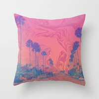 california Throw Pillows featuring California by Cale potts Art
