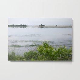 A Misty Salt Marsh Metal Print