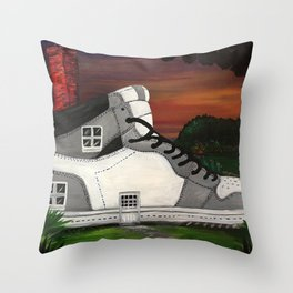 Shoe Value Throw Pillow