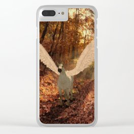 Pegasus, Winged Horse Clear iPhone Case