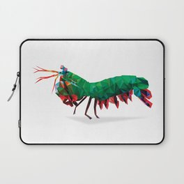 Geometric Abstract Peacock Mantis Shrimp  Laptop Sleeve
