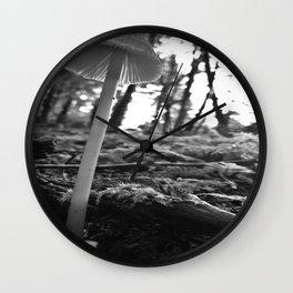 Black and White Mushroom Wall Clock
