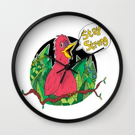 Stay Strong Wall Clock
