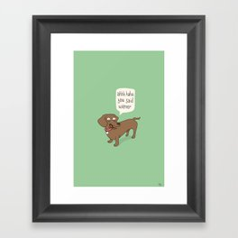 Immature Dachshund Framed Art Print