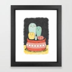 Cactus Family Framed Art Print