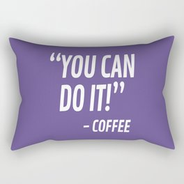 You Can Do It - Coffee (Ultra Violet) Rectangular Pillow