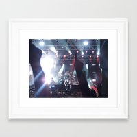 all time low Framed Art Prints featuring All Time Low - 3 by ijsw