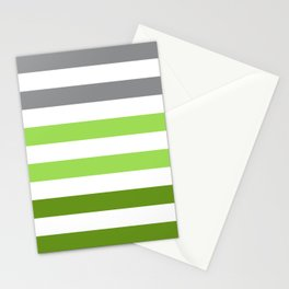 Stripes Gradient - Green Stationery Cards