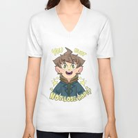 dangan ronpa V-neck T-shirts featuring mokoto naegi- you must not lose hope shirt by zamii070