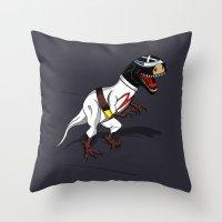 T-Rex (The X Roarcer) Throw Pillow