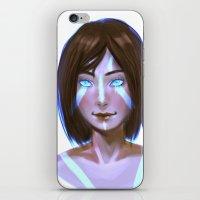 legend of korra iPhone & iPod Skins featuring Korra  by JemyArt