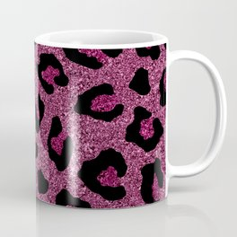 Pink Glitter Leopard Print Coffee Mug