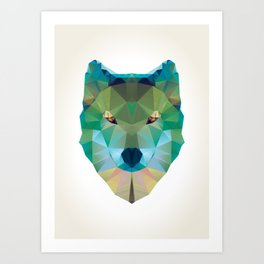 Wolf Crystalize 01-A Art Print