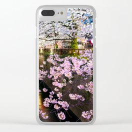 Cherry Blossom in pink   Japan Nakameguro River Clear iPhone Case