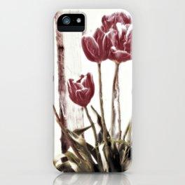 tulips della finestra - floral still life iPhone Case