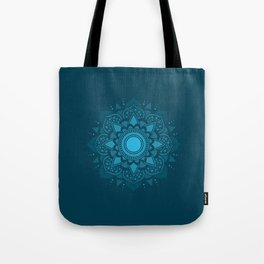 Blue Mandala #4 Tote Bag