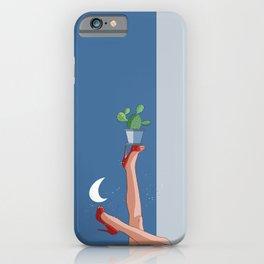 Night Dancer-Legs-High Heels-Cactus-Moon iPhone Case