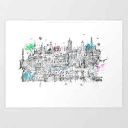 Angel Islington  Art Print