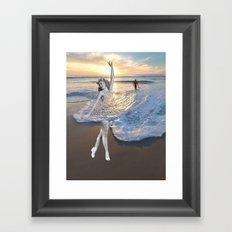 Like a wave Framed Art Print