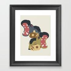 Pocket Monster 449 and 450 Framed Art Print