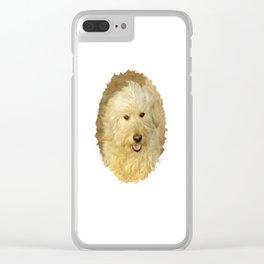 Dog Goldendoodle Golden Doodle Clear iPhone Case